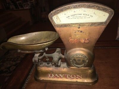 1906 Original Condition DAYTON COMPUTING SCALE CO. MOD 166 Candy 1lb 4oz Scale