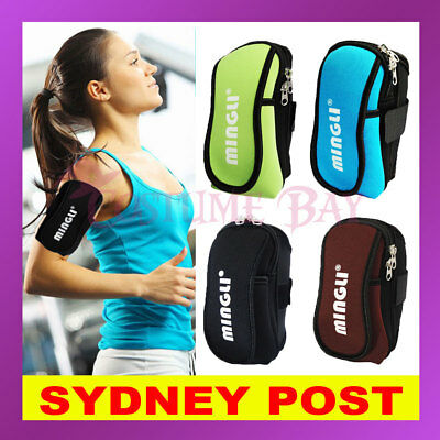 AU Sports Gym Running Mobile Phones Arm Bag Armband Wrist Pouch Exercise Jogging