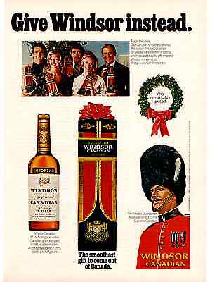 Vintage 1970's Retro Print Advert WINDSOR CANADIAN WHISKEY