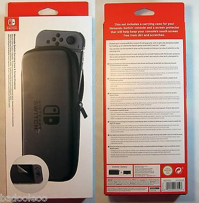 Nintendo Switch Carrying Case & Screen Protector - Genuine AU Stock New In Box