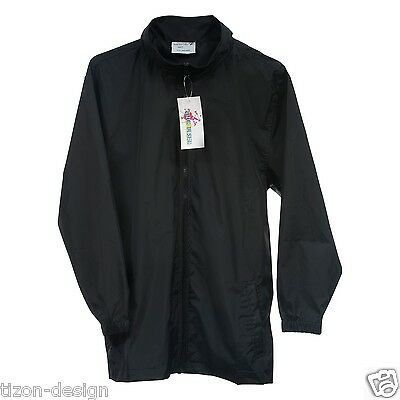Children Kids Raincoats Black Size 12 - No lining with fold away hood, soft feel