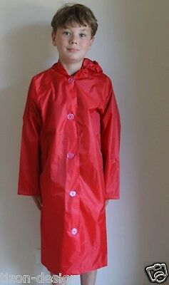 Children Red Rainmac raincoat- Various Sizes