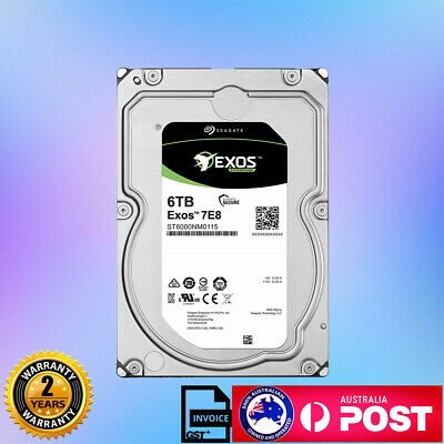 "New Seagate Exos 7E8 Enterprise NAS 3.5"" 6TB 7200RPM Hard Drive 256MB"