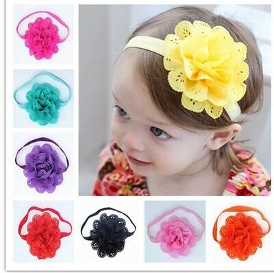 Fashion Cute Kids Baby Girls Toddler Infant Flower Headbands Hair Accessories