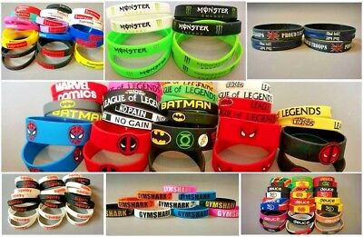 Energy Superdry Comic Logo Super Hero NYC Baller 3D Silicone Wristband Bracelet