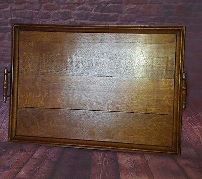 Large Antique Vintage Old Wooden Servants Butlers Serving Tray Tea Dinner