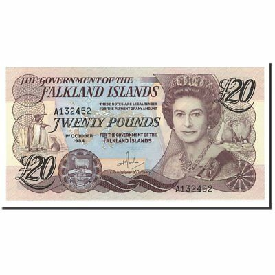 [#560676] Falkland Islands, 20 Pounds, 1984, 1984-10-01, KM:15a, UNC(65-70)