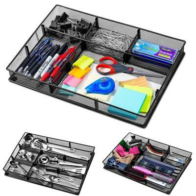custom drawer organizer tray – 20 adjustable metal mesh dividers to create