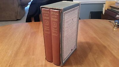 "RARE  ""Ordeal of the Union""  By Allan Nevins  c.1947   2 vol boxed set"