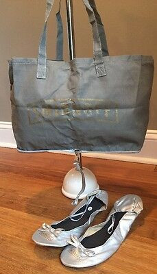 Smirnoff Vodka Reusable Tote Bag with Silver Ballet Flats Sz L Advertising New