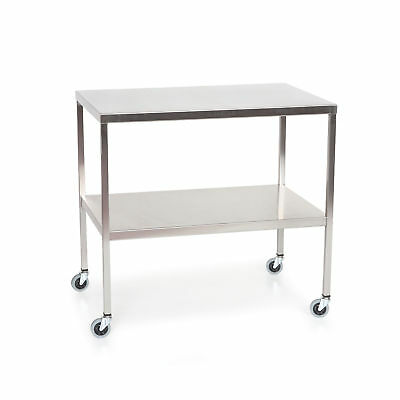 """Stainless Steel Instrument Table with Shelf 48""""L x 24""""W x 34""""H 1 ea"""