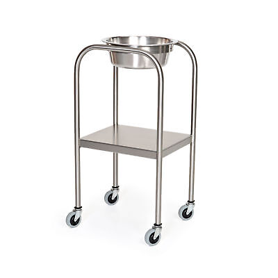 Stainless Steel Single Bowl Solution Stand With Shelf 1 ea