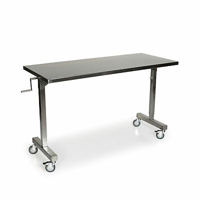 """Stainless Steel Height Adjustable Table 34""""L x 46""""W 1 ea"""