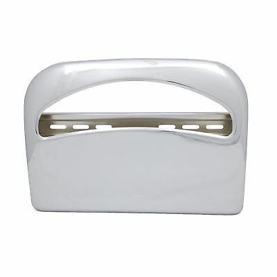 Toliet Seat Cover Dispenser, Metal, Round Corners, Chrome 1 ea