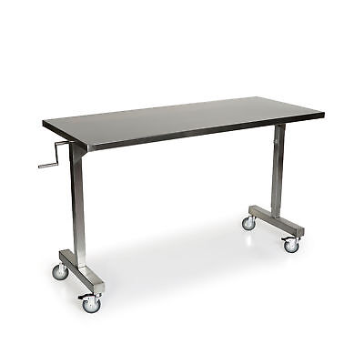 """Stainless Steel Height Adjustable Table 48""""L x 24""""W 1 ea"""
