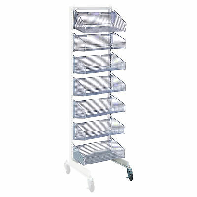 "Mobile Wall System Add-On With 7- 11.875""D Baskets 1 ea"