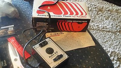 Analite Audio Electronic Timer IN ORIGINAL BOX darkroom audible signal solid sta