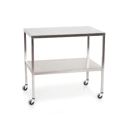 """Stainless Steel Instrument Table with Shelf 60""""L x 24""""W x 34""""H 1 ea"""