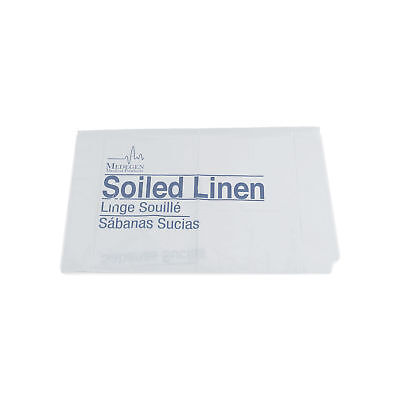 "Soiled Linen Bag 41"" x 23"" x 8"" - White - 1.2mil - 30-40gal 250 pk"