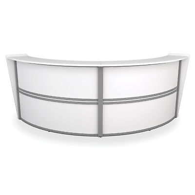 Marque Reception Desk Marque 2-Unit Curved Reception Desk, White 1 ea