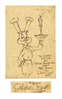 Chuck Jones Large Signed Drawing of Bugs Bunny