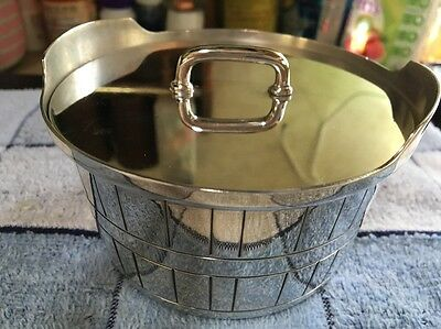Vintage GORHAM Beautiful Butter Tub Silver Plate YC348 STAMPED