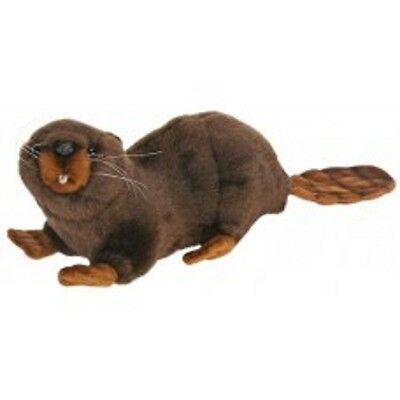 New NWT Hansa Life Like Handmade Stuffed Animal Beaver Amazing Detail