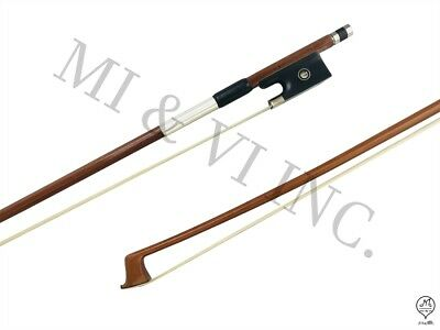 MI&VI Pernambuco Violin Bow-Full Size 4/4 Octagonal Stick, Real Horse Hair Ebony