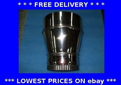 Reducer, pipe connector, chimney liner, ducting, stove. stainless steel