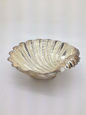 Beautiful Silverplate Shell Bowl With Shell Feet