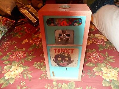 1 Cent 1950's Penny Drop Gumball Target Arcade Game