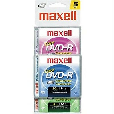 MAXELL Mini DVD-R 1.4GB 30min For DVD Player Camcorder Handycam - PACK OF 5