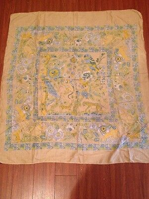 Vintage Sam Hilu's Womens Scarf - 100% Cotton