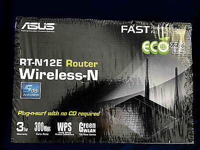 ASUS RT-N12E N300 WiFi Router - AS NEW - used 1 one day only!  5% off use C5OZ