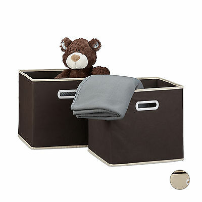 Storage Box Shelf Box Folding Foldable Box Organize as Divider Brown or Beige