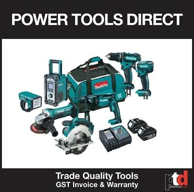 New Makita 18V Cordless Hammer Drill Impact Driver Grinder 8 Piece Combo Kit