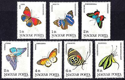 Hungary 1984 Butterflies Insects Complete Set of stamps MNH