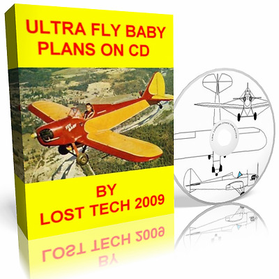 Classic Airplane Ultra Fly Baby Aircraft Plans On Cd Plus Extras