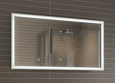 Led bathroom mirror picclick uk for Miroir 90x50
