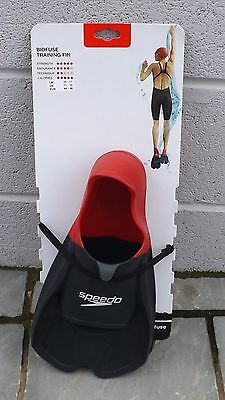 BNWT Speedo Biofuse Resistance Training Fins Swimming Aid Flippers UK 11-12