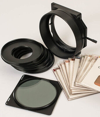Sinar 100mm Filter-Holder with 18mm tube, 15 filters, Pola filt & adapter rings.