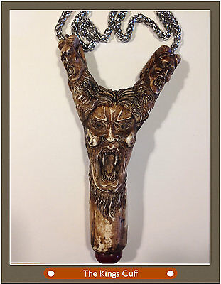 Screaming Meemie Talisman Pendant - Devil - Carved Deer Antler - Big-Bold Design
