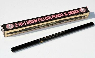 Soap & Glory Archery 2 In 1 Brow Filling Pencil Brownie Points Full Size Bnib