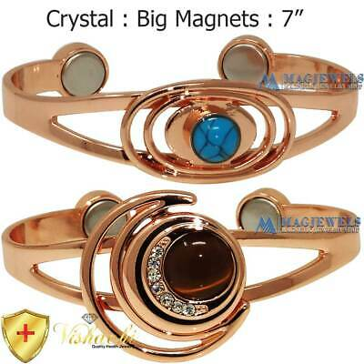 Xclnt Pure Solid Copper Magnetic Bangle/cuff/bracelet Turquoise Arthritis Cb22V