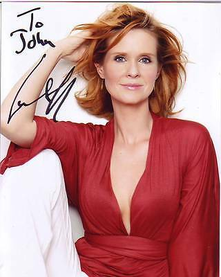 CYNTHIA NIXON Autographed Signed SEX AND THE CITY MIRANDA Photograph - To John