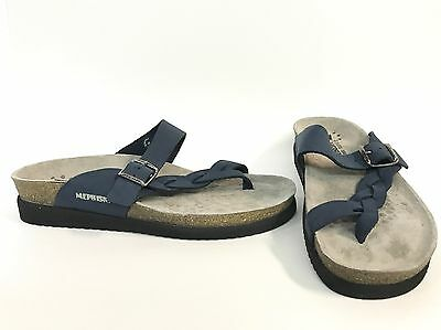 6ca9f02323fe MEPHISTO HELEN TWIST Navy Nubuck Leather Sandal -  170.00