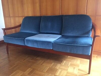 1 90er bett sofa rego mobile m bel teak vintage renkel 50er 60er 50s mid century eur 124 90. Black Bedroom Furniture Sets. Home Design Ideas