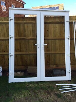 Patio doors with glazed side panels picclick uk for Double glazed upvc patio doors