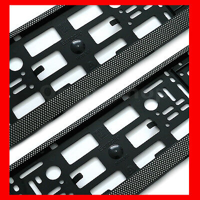 2 x CHECKERED EFFECT Registration Number Plate Surround Holder Frame for Kia Car
