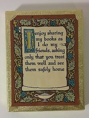 Bookplates Vintage Antioch New Old Stock 50 I Enjoy Sharing See Them Safely Home